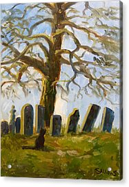 Cemetery Road Acrylic Print by Nora Sallows