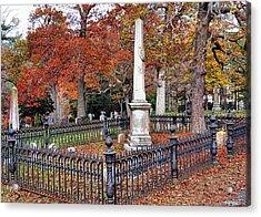 Cemetery Scenery Acrylic Print by Janice Drew
