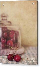 Cerise Acrylic Print by Priska Wettstein