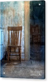 Chairs In Rundown House Acrylic Print by Jill Battaglia