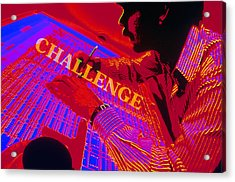 Challenge Acrylic Print by Jerry McElroy