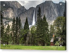 Chapel In The Valley Acrylic Print by Sue Karski