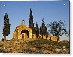 Chapelle D'eygalieres En Provence. Acrylic Print by Bernard Jaubert