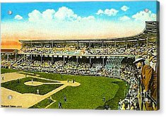 Charlie Comiskey Overlooking His Park In Chicago 1920 Acrylic Print by Dwight Goss