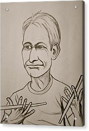 Charlie Watts Acrylic Print by Pete Maier