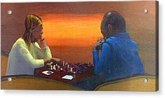 Checkmate Acrylic Print by Peter Worsley