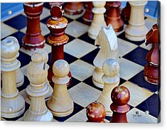 Checkmate Acrylic Print by Russ Harris