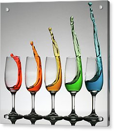 Cheers Higher Acrylic Print by William Lee