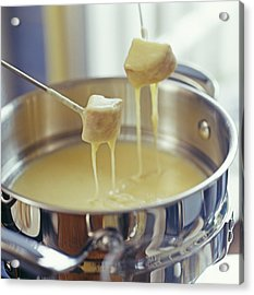 Cheese Fondue Acrylic Print by David Munns