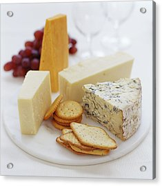 Cheese Selection Acrylic Print by David Munns