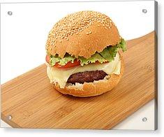 Cheeseburger  Acrylic Print by Paul Cowan