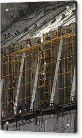 Chernobyl Sarcophagus Repairs, 2006 Acrylic Print by Ria Novosti