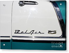 Chevrolet Bel-air . Blue . 7d12849 Acrylic Print by Wingsdomain Art and Photography