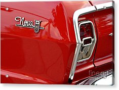 Chevy Nova Acrylic Print by John Black