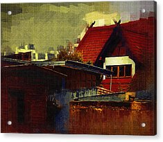 Chiang Mai House Acrylic Print by Fran Woods
