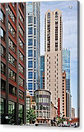 Chicago - Goodman Theatre Acrylic Print by Christine Till