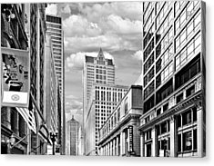 Chicago Lasalle Street Acrylic Print by Christine Till