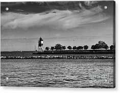 Chicago Lighthouse Acrylic Print by Leslie Leda