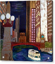 Chicago River Acrylic Print by Char Swift