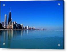Chicago Skyline Acrylic Print by Paul Ge