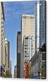Chicago State Street - That Great Street Acrylic Print by Christine Till