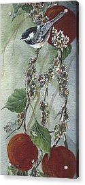 Chickadee Too Acrylic Print by Meldra Driscoll