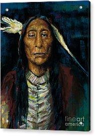 Chief Niwot Acrylic Print by Frances Marino