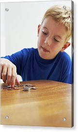 Child With Loose Change Acrylic Print by Ian Boddy
