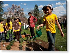 Children From Bancroft Elementary Acrylic Print by Everett