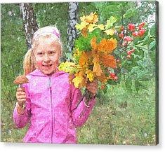 Children's Fall Acrylic Print by Tomasz Bujak
