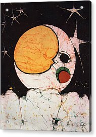 Children's Moon Acrylic Print by Alexandra  Sanders