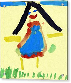 Child's Painting Acrylic Print by Sheila Terry