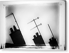 Chimneys Acrylic Print by David Ridley