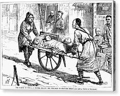 China: Famine, 1877 Acrylic Print by Granger
