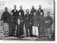 China: Missionaries, 1876 Acrylic Print by Granger