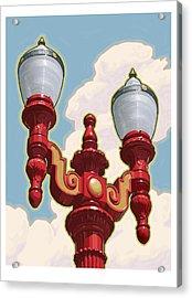 Chinatown Street Light Acrylic Print by Mitch Frey