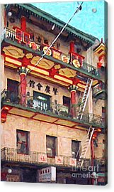 Chinatown Acrylic Print by Wingsdomain Art and Photography