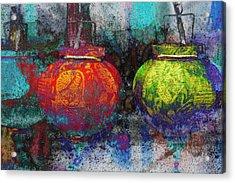 Chinese Lanterns Acrylic Print by Skip Nall
