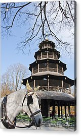 Chinese Pagoda  Acrylic Print by Andrew  Michael