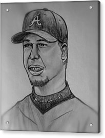 Chipper Jones Acrylic Print by Pete Maier
