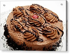 Chocolate Cake With A Cherry On Top 2 Acrylic Print by Andee Design