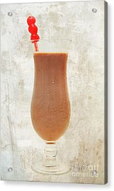 Chocolate Milk With Cherries On Top Acrylic Print by Andee Design