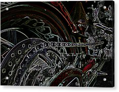 Chopped An Tron'd Acrylic Print by Travis Crockart