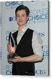 Chris Colfer In The Press Room Acrylic Print by Everett