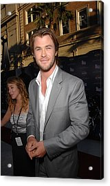 Chris Hemsworth At Arrivals For Captain Acrylic Print by Everett