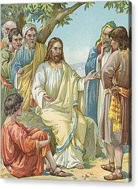 Christ And His Disciples Acrylic Print by Ambrose Dudley