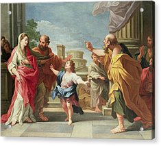 Christ Preaching In The Temple Acrylic Print by Ludovico Gimignani
