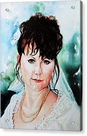Christis Wedding Day Acrylic Print by Hanne Lore Koehler