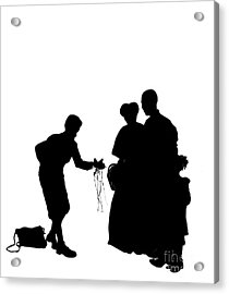 Christmas Gift - A Silhouette 1a Acrylic Print by Reggie Duffie