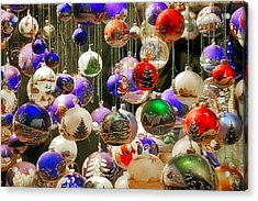 Christmas Holiday Decor - Mouth Blown And Hand Painted Acrylic Print by Christine Till